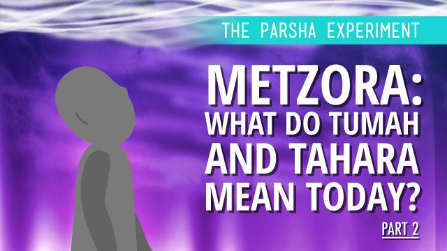 Metzora: What Do Tumah And Tahara Mean Today? Part II